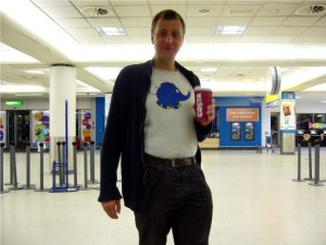 Andre at Edinburgh Airport