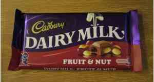 fruit and nut chocolate by cadburys