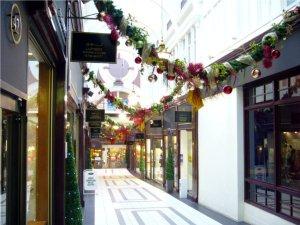 Weihnachtsdeko in der Stirling Arcade