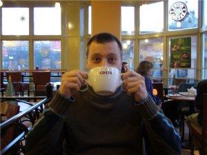 Kaffeepause im Costa Coffee in Edinburgh