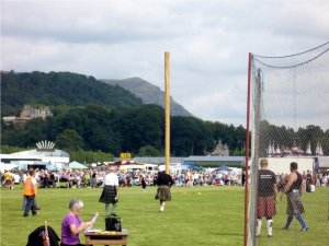 Highland games in Bridge of Allen