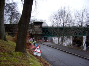 Maintenance work at Stirling riverside, Scotland