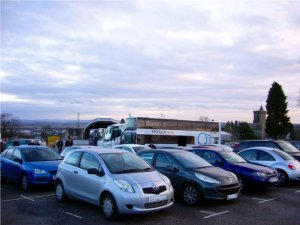 Parkplatz am Stirling Castle am Neujahrstag