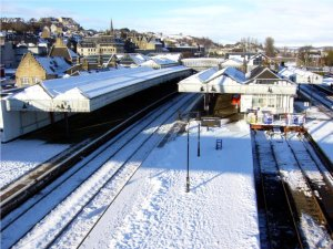 Rail Station Stirling in Winter 2010, Scotland