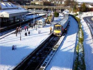 Bahnhof in Stirling, Winter 2010