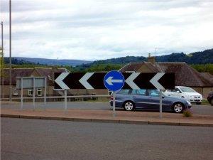 Kreisverkehr in Schottland