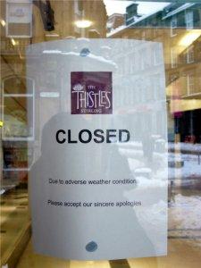 Geschaefte bleiben geschlossen in Stirling