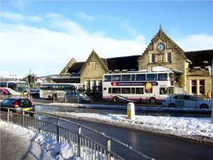 Stirling Rail Station im Winter 2010, Scotland