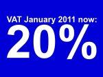 VAT increase January 2011, Scotland
