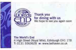 Worlds End Restaurant Edinburgh