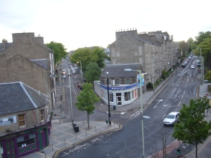 Albert Street Dundee, Scotland, view from my flat