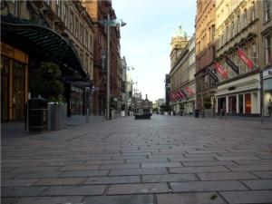 Glasgow City Center morgens um 5. Ein kleiner Spaziergang vor der Arbeit