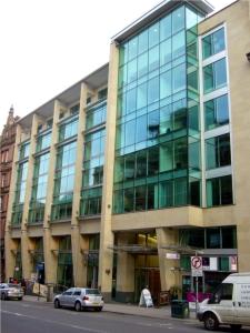 Regus Offices Glasgow West George Street, in der 4ten Etage hatte ich meinen Arbeitsplatz nach der Arbeit