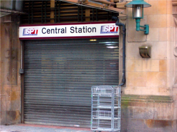 Glasgow central station closed