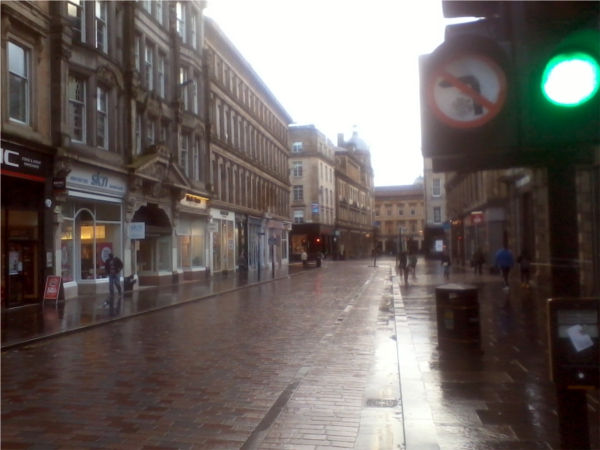 Glasgow City at Storm and rain attack