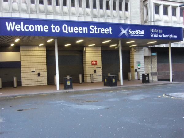 Glasgow queen street station closed