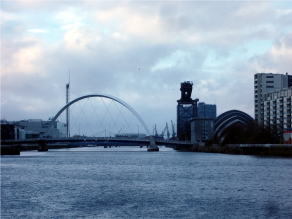 Glasgow River side with the titan