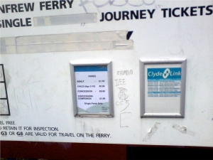 Renfrew Ferry Yoker Time Table