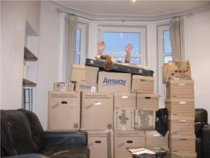 Das war's - Alle Kartons sind in der Wohnung... und wie komme ich hier hinter raus?