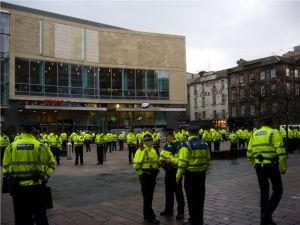 Strathclyde Police Glasgow at St Enoch Shopping Center