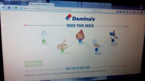Domino's Pizza: so sieht zeitgemäßes Ordertracking aus (Bildschirmfoto)